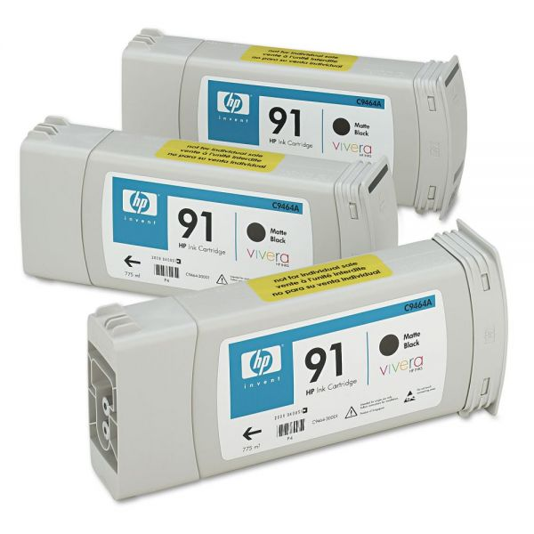 HP 91 Matte Black Ink Cartridges (C9480A)