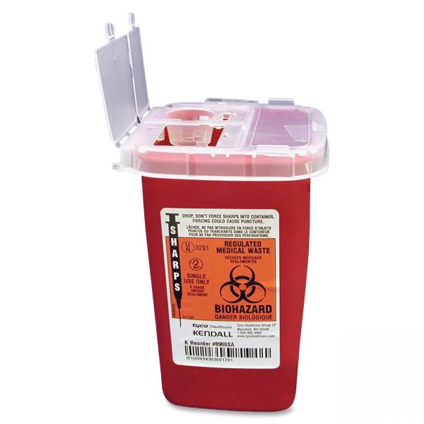 Covidien Sharps 1 Quart Phlebotomy Container With Lid