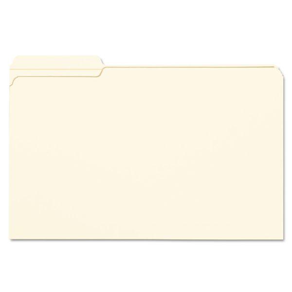 Smead File Folder, 1/3 Cut First Position, Reinforced Top Tab, Legal, Manila, 100/Box