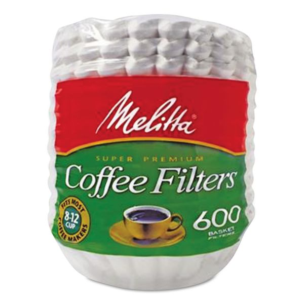 Melitta Coffee Filters, Paper, Basket Style, 8 to 12 Cups, 7200/Carton