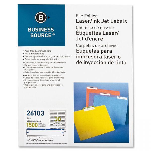 Business Source Permanent File Folder Labels