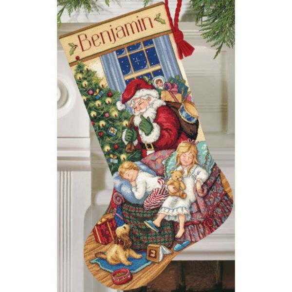 Dimensions Gold Collection Sweet Dreams Stocking Counted Cross Stitch Kit