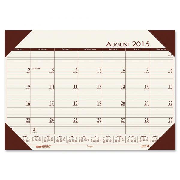 House of Doolittle EcoTones Academic Monthly Desk Pad Calendar