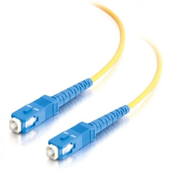 2m SC-SC 9/125 OS1 Simplex Singlemode PVC Fiber Optic Cable - Yellow