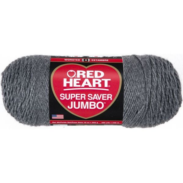 Red Heart Super Saver Yarn - Gray Heather