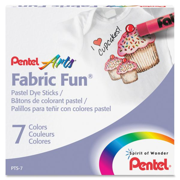 Pentel Arts Fabric Fun Pastel Dye Sticks