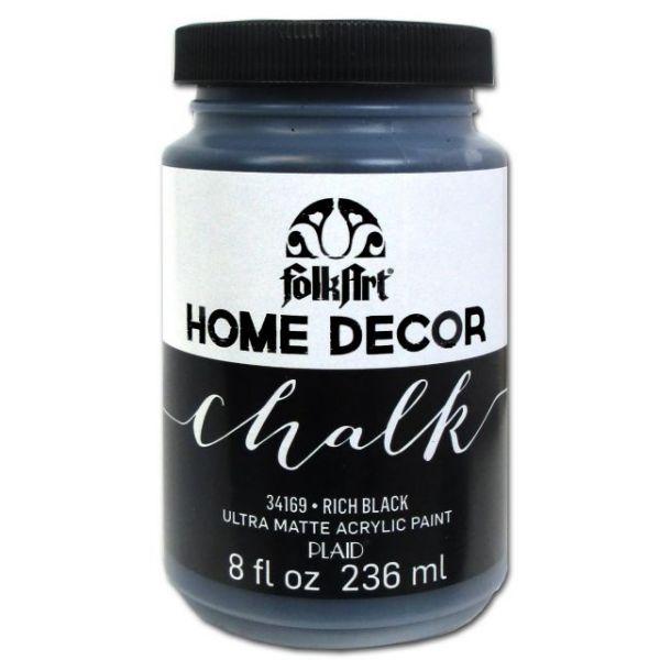 FolkArt Home Decor Rich Black Chalk Paint