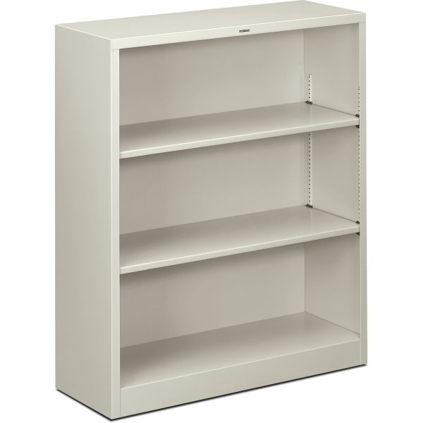 HON Brigade 3-Shelf Metal Bookcase