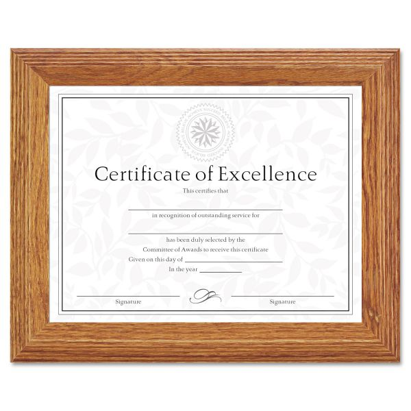 DAX Stepped Oak Picture/Certificate Frame