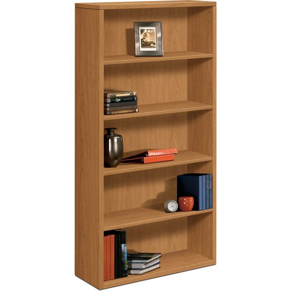 HON 10500 Series 5-Shelf Laminate Bookcase