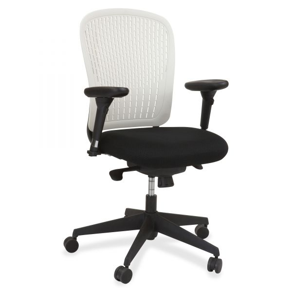 Safco Adjustable Arms Black Fabric Task Chair