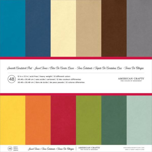 American Crafts Smooth Cardstock Pack