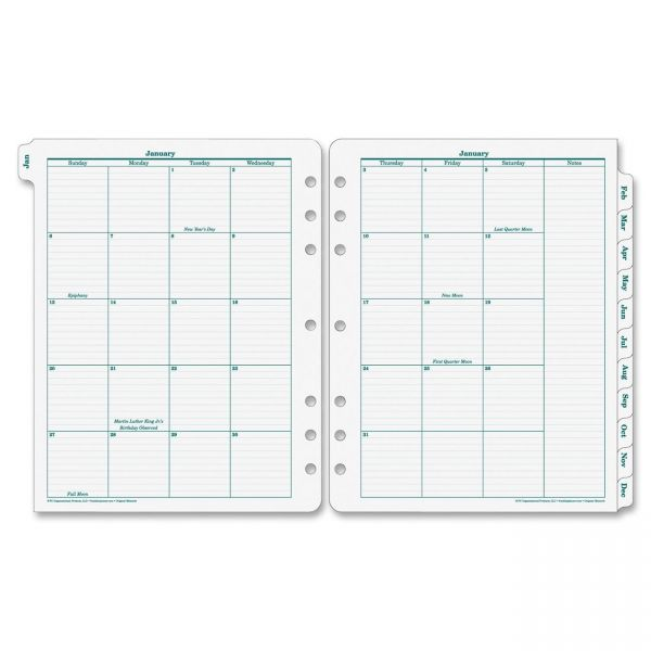 Franklin Covey Original Monarch Monthly Tab