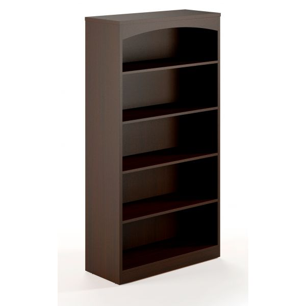 Mayline Brighton Series 5-Shelf Laminate Bookcase