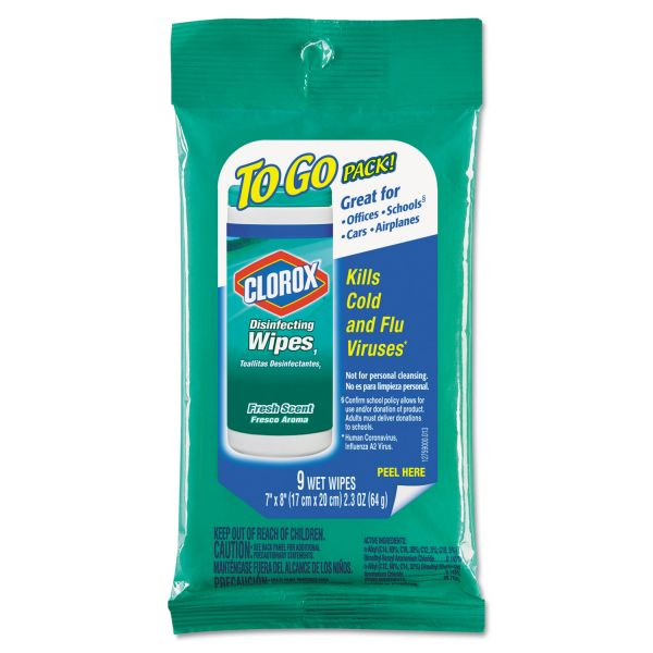 Clorox Disinfecting Wipes To Go Packs