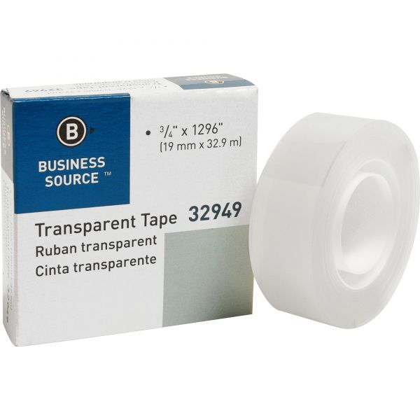 Business Source Transparent Glossy Tape Refills