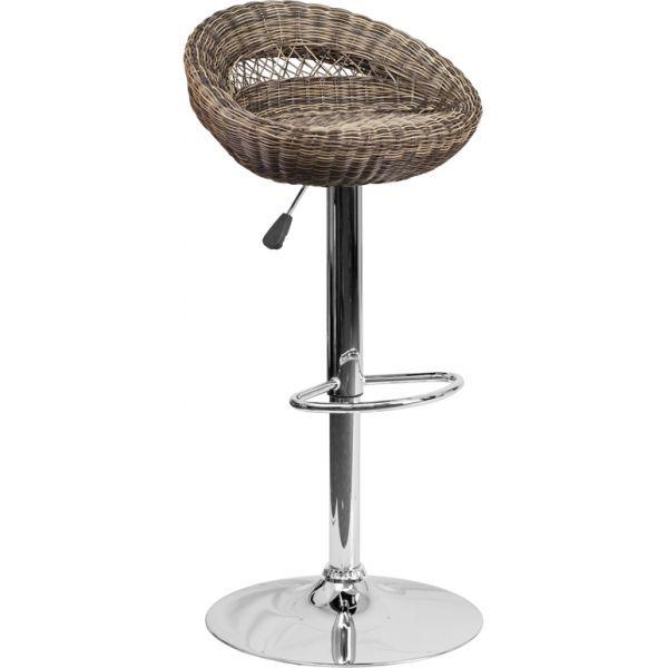 Flash Furniture Wicker Adjustable Height Stool