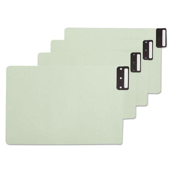 Smead End Tab Guides, Blank, Vertical Metal Tabs, Pressboard, Legal, 50/Box