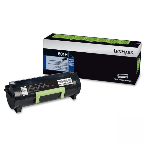 Lexmark 501H Black High Yield Return Program Toner Cartridge (50F1H00)