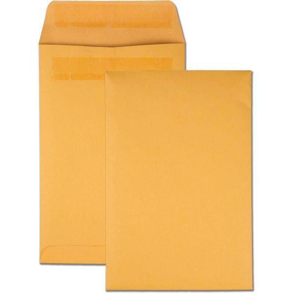 Quality Park Redi Seal Catalog Envelope, #55, 6 x 9, Brown Kraft, 100/Box