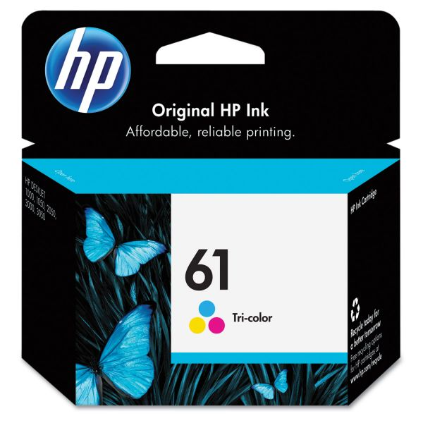 HP 61 Tri-Color Ink Cartridge (CH562WN)