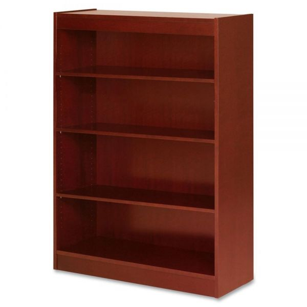 Lorell 4-Shelf Panel Wood Veneer Bookcase