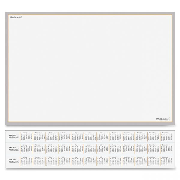 "At-A-Glance 18"" x 12"" WallMates Self-Adhesive Dry Erase Whiteboard"