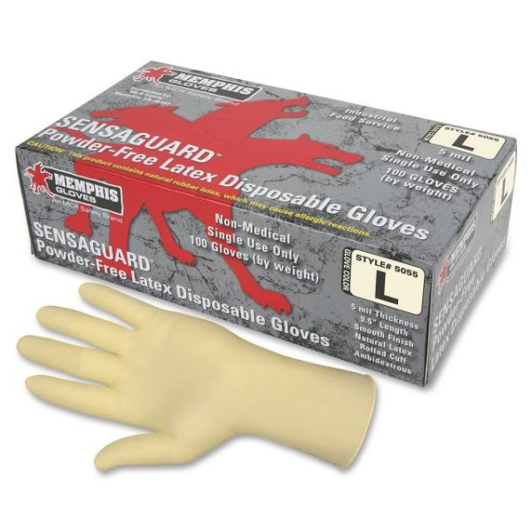 MCR Safety Powder-free Rubber Latex Polymer Gloves