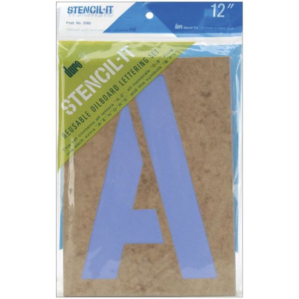 Stencil-It Reusable Lettering Set