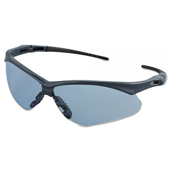 Jackson Safety* Nemesis Safety Glasses, Blue Frame, Light Blue Lens