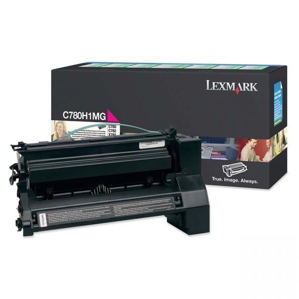 Lexmark C780H1MG Magenta High Yield Return Program Toner Cartridge