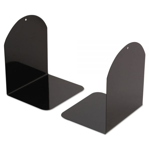 Universal Bookends with Magnetic Base, 6 x 5 x 7, Metal, Black