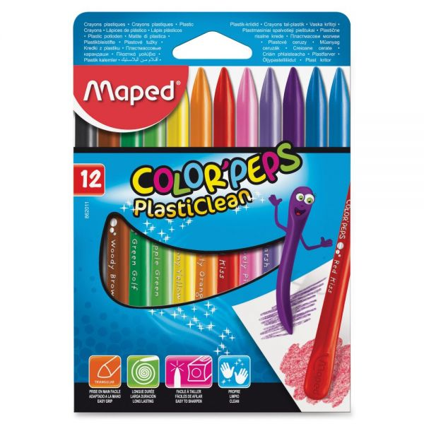 Helix Color'Peps PlastiClean Plastic Crayons