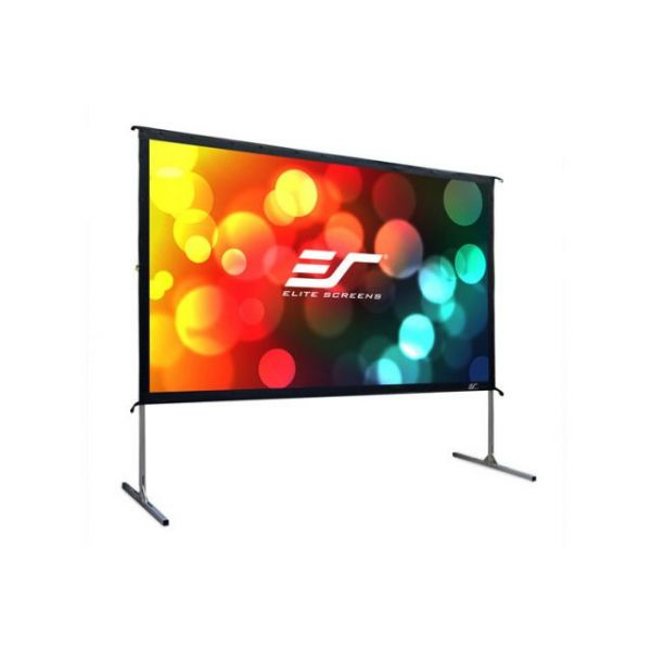 "Elite Screens OMS120HR2 Yardmaster2 Portable Outdoor Self Standing Projection Screen (120"" 16:9 Aspect Ratio) (Rear)"