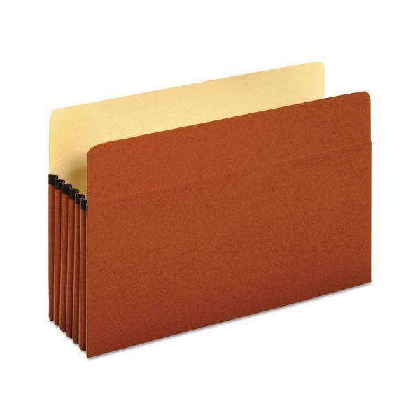 Universal 5 1/4 Inch Expansion File Pockets, Straight, Legal, Redrope/Manila, 10/Box