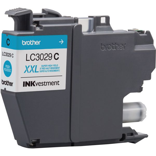 Brother LC3029C INKvestment Super High-Yield Ink, Cyan