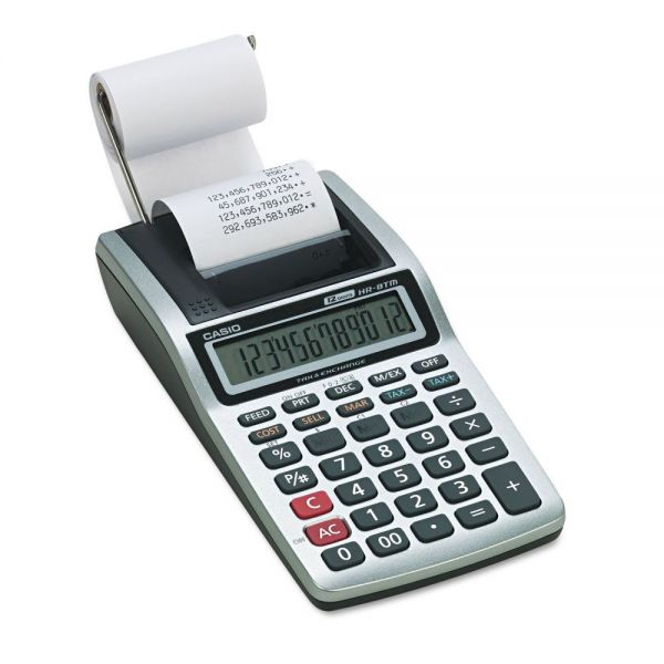 Casio HR-8TM Handheld Portable Printing Calculator