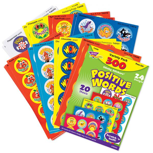Trend Positive Words Stinky Stickers Variety Pack