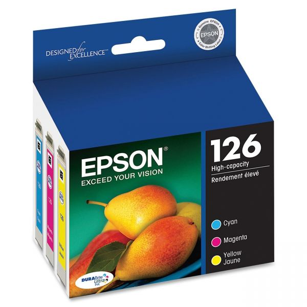 Epson 126 Combo Pack High Capacity Ink Cartridges (T126520)