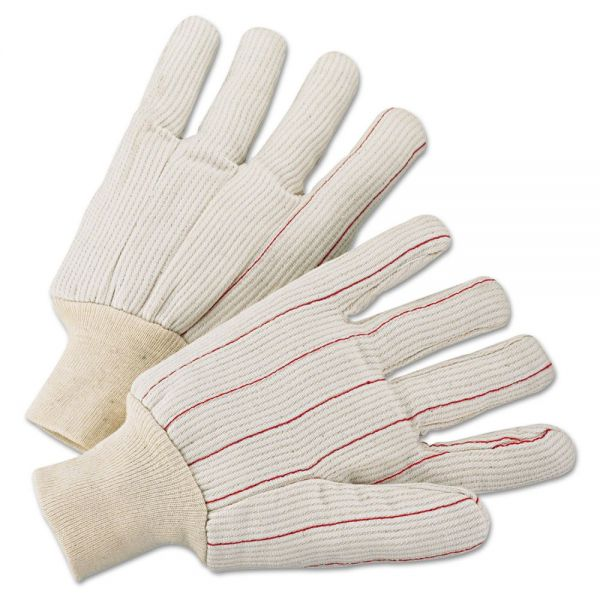 Anchor Brand 1000 Series Canvas Gloves, White, Large, 12 Pairs