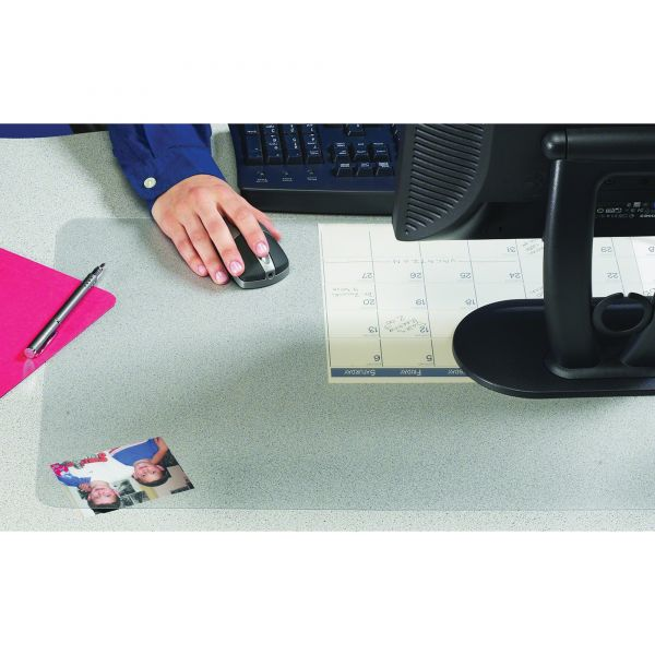 Artistic KrystalView Desk Pad with Microban, Matte, 17 x 12, Clear