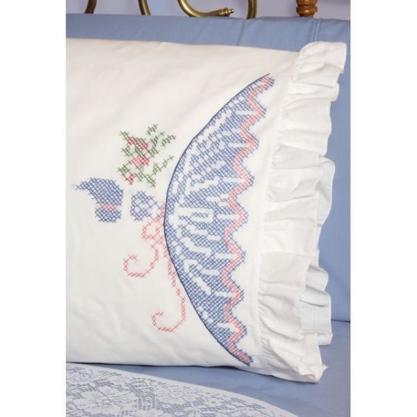Fairway Stamped Ruffled Edge Pillowcases