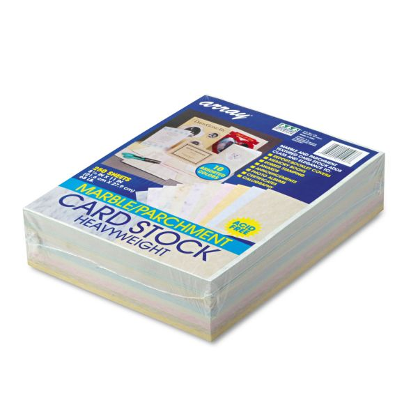 Pacon Array Card Stock, 65 lb., Letter, Assorted Colors, 250 Sheets/Pack