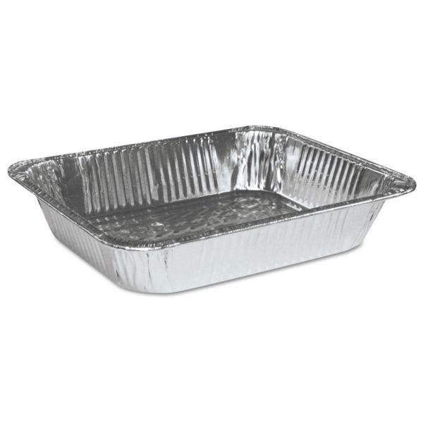 Boardwalk Aluminum Pan, Half-Size, Steam Table, Deep, 100/Carton