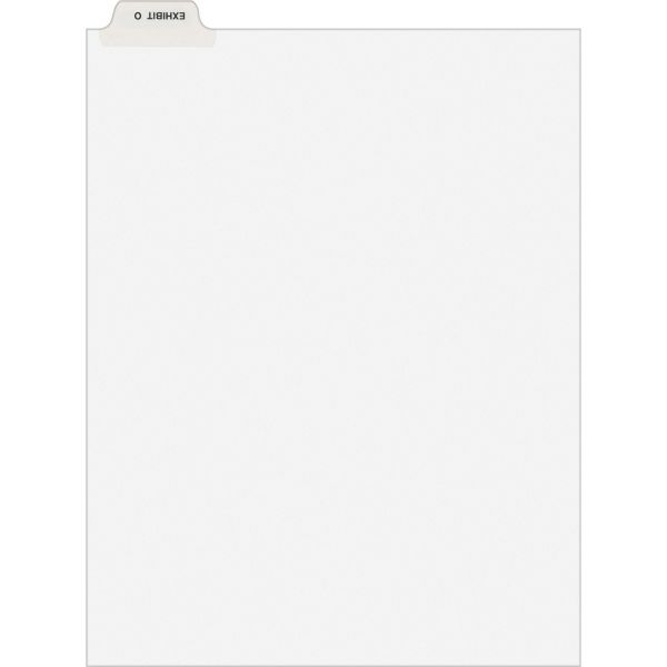 Avery-Style Preprinted Legal Bottom Tab Dividers, Exhibit O, Letter, 25/Pack