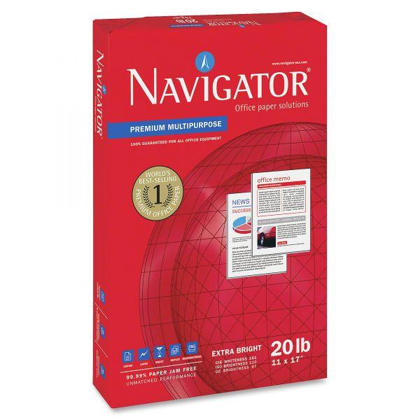 """Navigator Premium Multi-Purpose White 11"""" x 17"""" Copy Paper"""