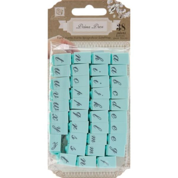 "Press Alphabet Stamp Set .25"" Characters 38/Pkg"