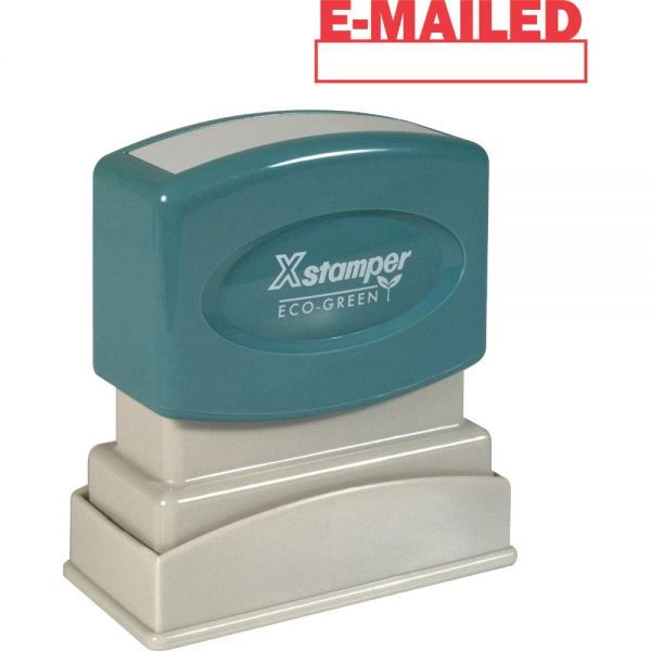Xstamper E-MAILED Window Title Stamp