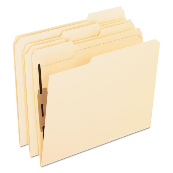 Pendaflex Folders with Two Bonded Fasteners, 1/3 Cut Top Tab, Letter, Manila, 50/Box