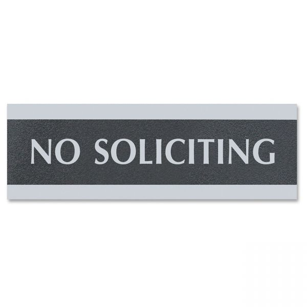 """U.S. Stamp & Sign """"No Soliciting"""" Sign"""